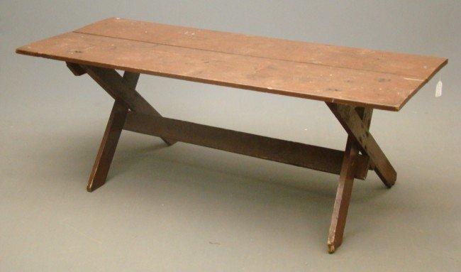 8: 19th c. Sawbuck Table