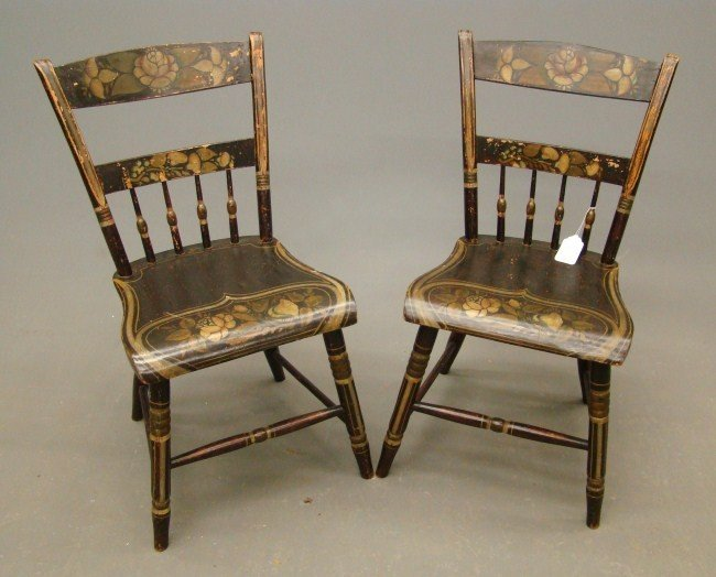 16: Pair 19th c. Chairs