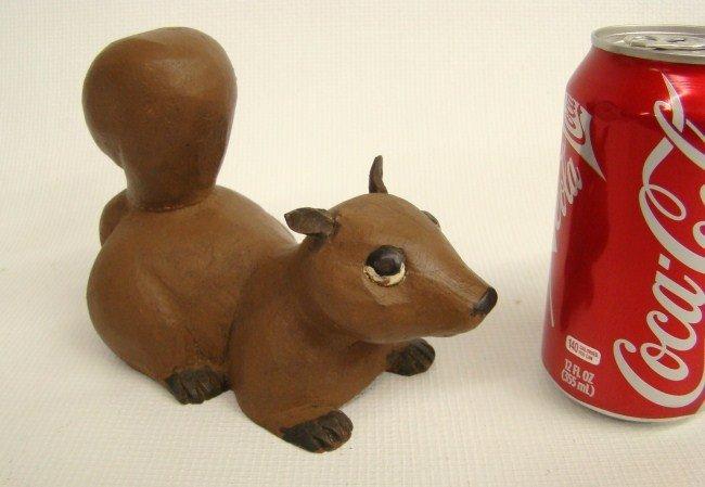 143: Folk Art Carved Chipmunk