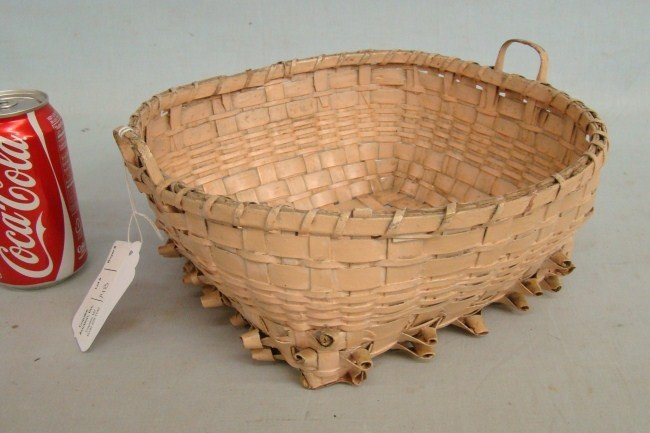 148: 19th c. Painted Indian Basket