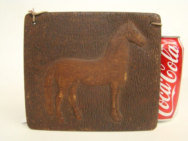 150: Carved Horse Plaque