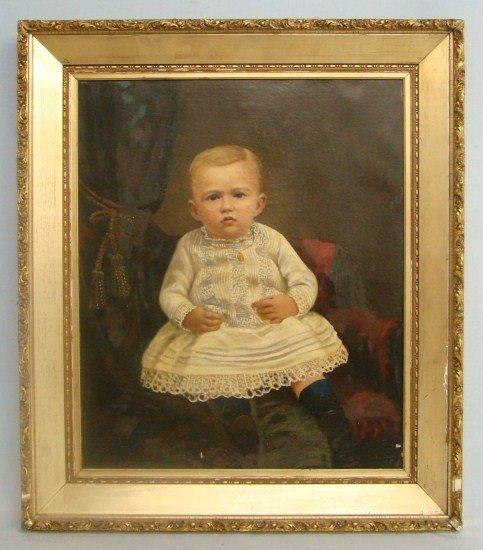 155: 19th c. Painting Boy