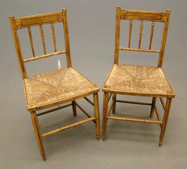 159: Pair 19th c. Chairs