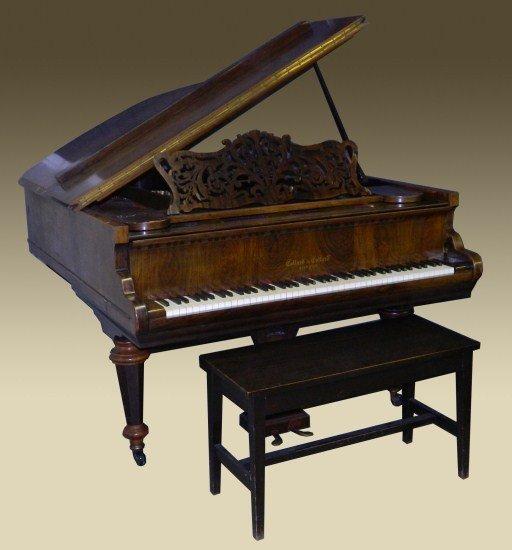 193: 19th c. Collard & Collard Baby Grand Piano