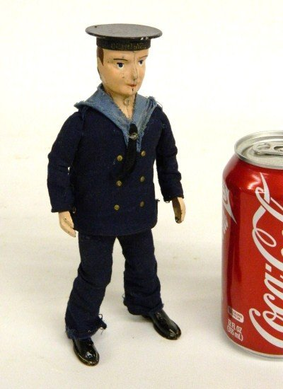 1: Vintage Lehmann Windup Sailor Toy