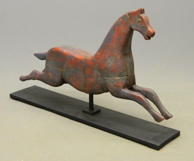 9: Primitive Carved Horse