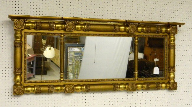 13: 19th c. Overmantle Mirror