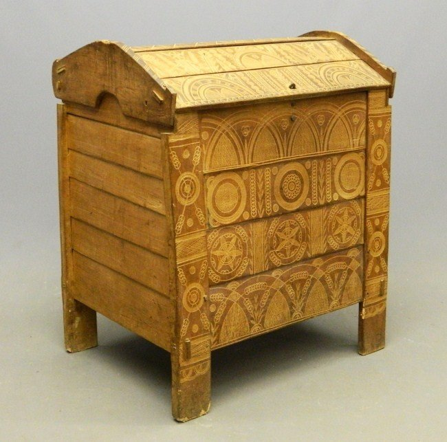 17: 19th c. Eastern European Trunk