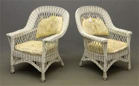 423 Pair Wicker Chairs