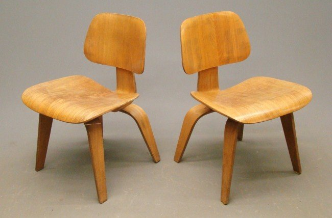 289: Pair Mid Century Eames Chairs
