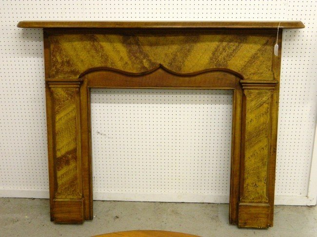 5: 19th c. Painted Fireplace Mantle