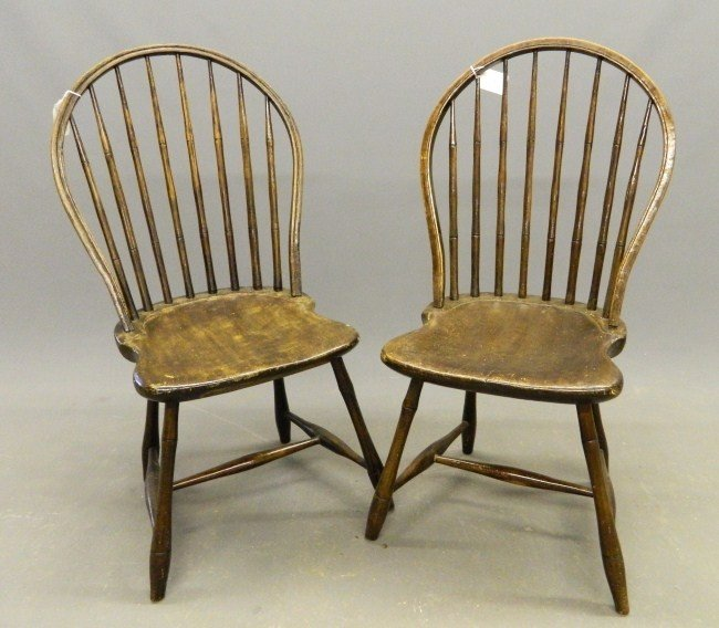 14: Pair 19th c. Windsor Chairs