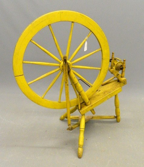 18: 19th c. Spinning Wheel