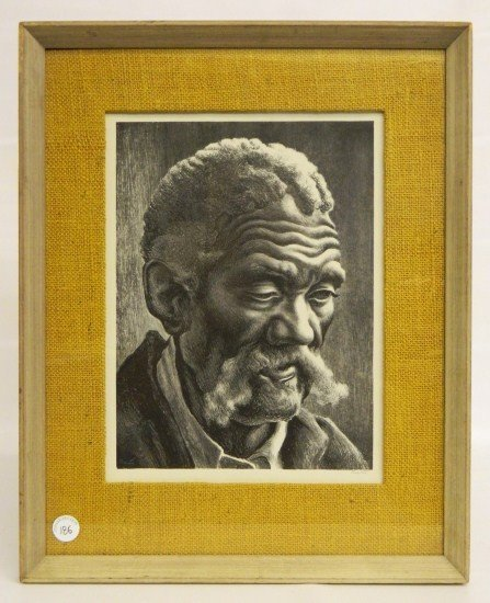 186: Thomas Hart Benton Signed Lithograph