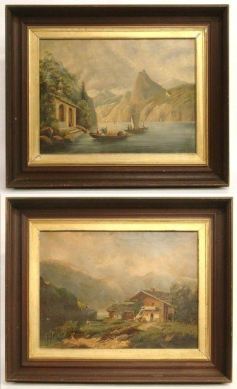 4: Pair 19th c. Continental Paintings