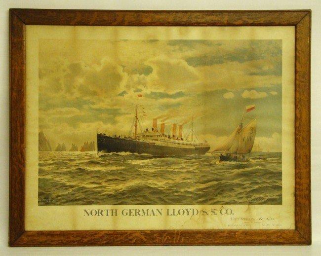 15: 19th c. Ocean Liner Print