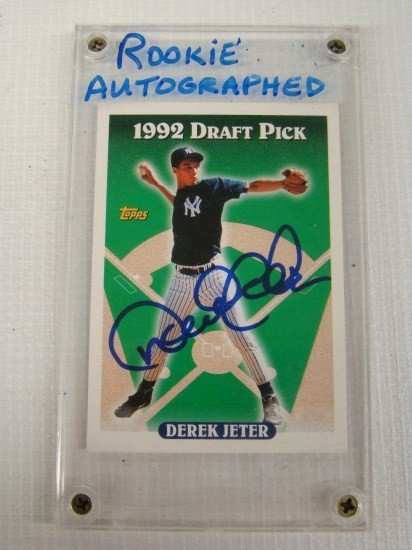 48 Derek Jeter Autographed Rookie Card
