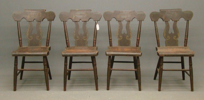 12: Set Of 19th c. Chairs