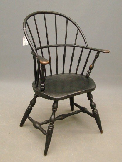 "58: Signed ""E. Tracy""  Windsor Chair"