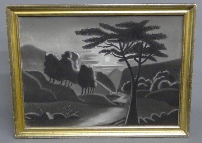 16: 19th c. Sandpaper Drawing