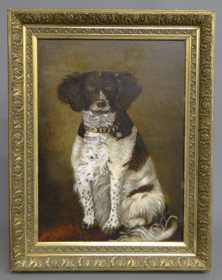 17: 19th c. Painting Dog