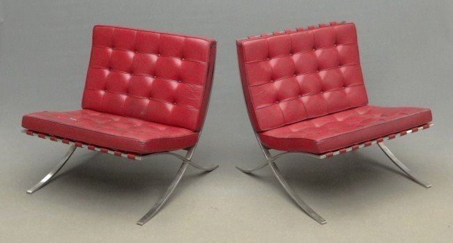 23: Pair Barcelona Chairs