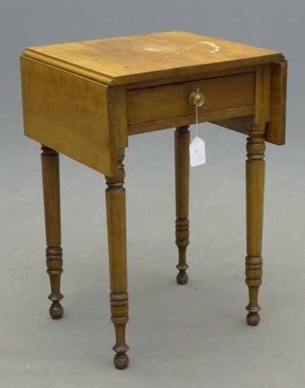 51: 19th c. Single Drawer Stand