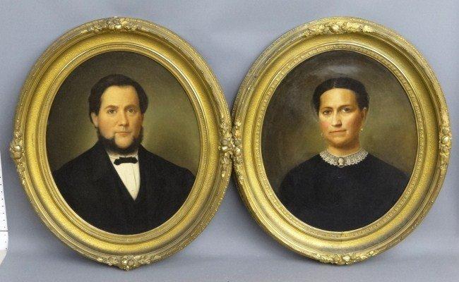 60A: Pair 19th c. Portraits