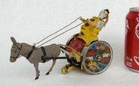 Lehmann Clown And Mule Cart Toy