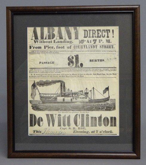 72: Albany Steamboat Broadside