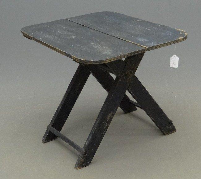 77: 19th c. Sawbuck Table