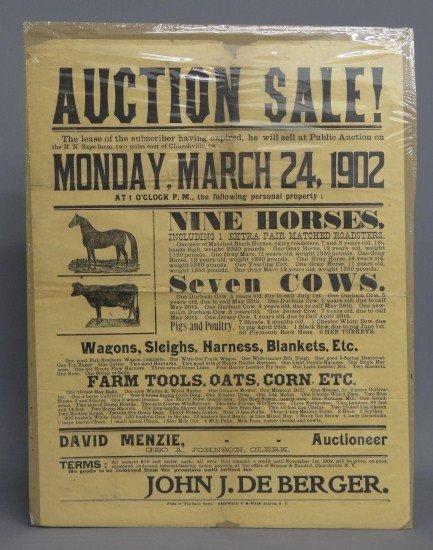 79: Auction Broadside
