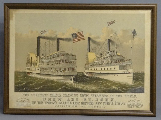 83: Currier And Ives Paddlewheeler's Print