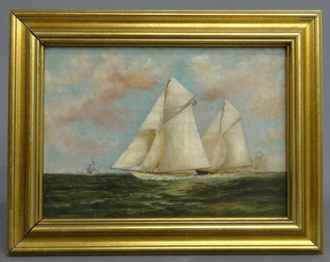 131: 19th c. Ship Painting