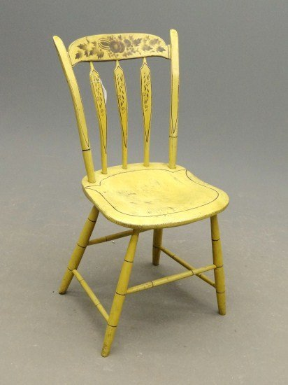 178: 19th c. Painted Chair