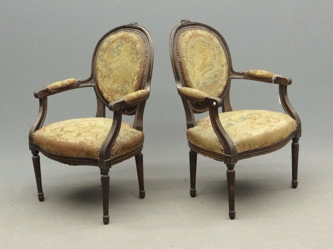 180A: Pair French Chairs