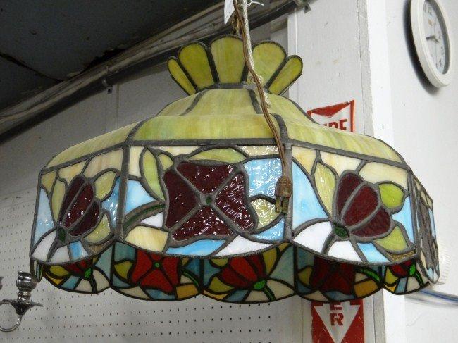 187: Slag Glass Hanging Shade