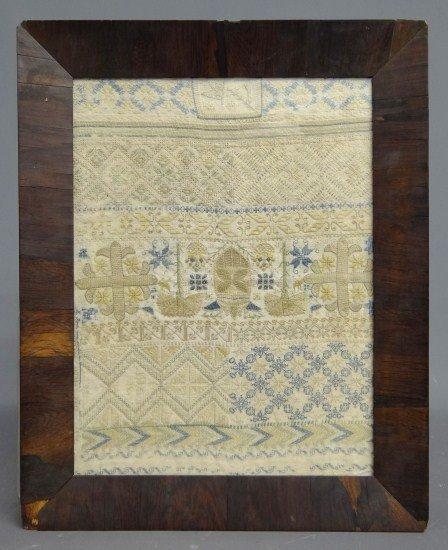 194: 19th c. Needlework Sampler