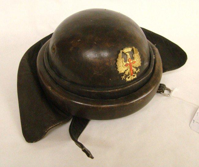 427: Motorcycle Leather Helmet