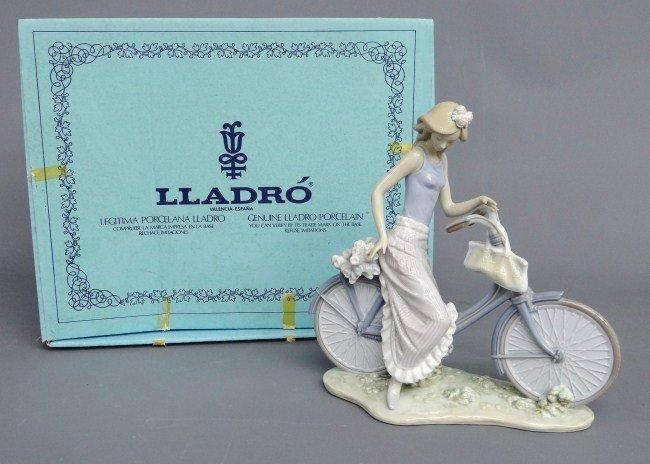 583: Lladro Cyclist Figurine