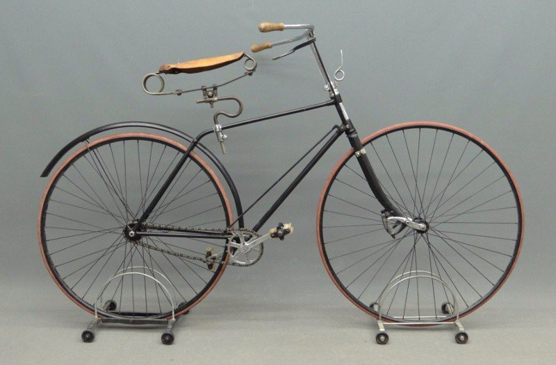 4A: C. 1890 Columbia Hard Tire Safety Bicycle