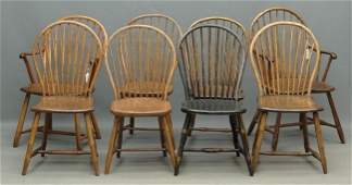 96 Set Of Eight Windsor Chairs