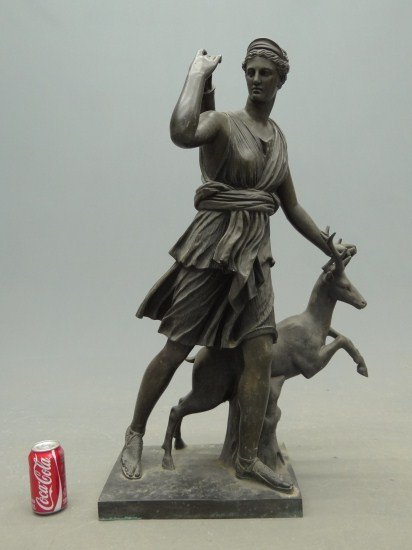 1: 19th c. Diana The Huntress Bronze