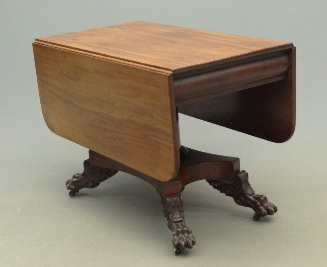 7: 19th c. Empire Dropleaf Table