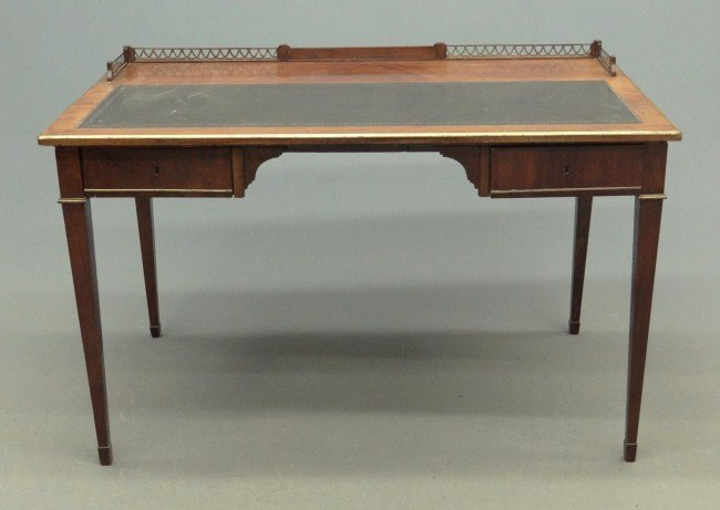 10: English Leather Top Desk