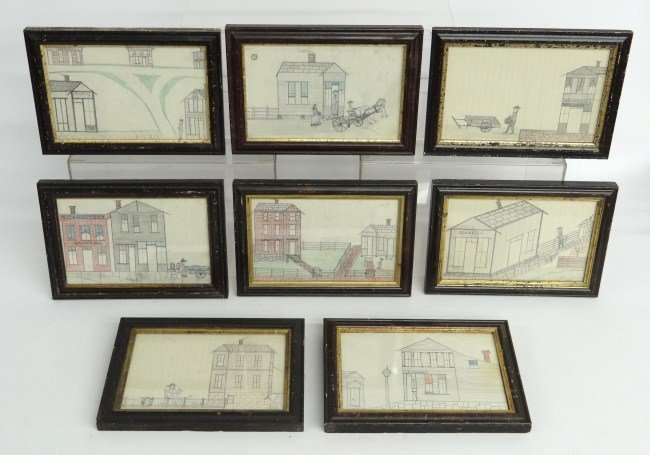 4: Set Of 19th c. Drawings