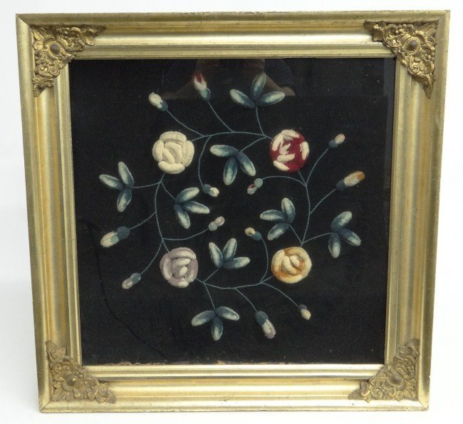 7: 19th c. Framed Trapunto Work