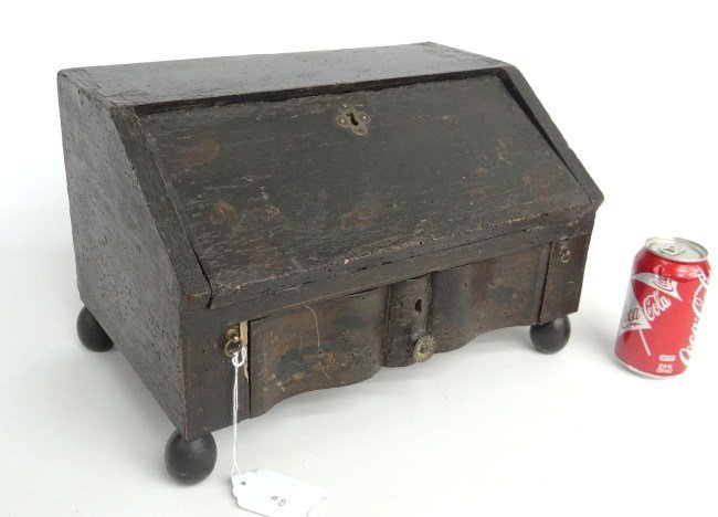 8: 18th c. Miniature Slant Lid Desk