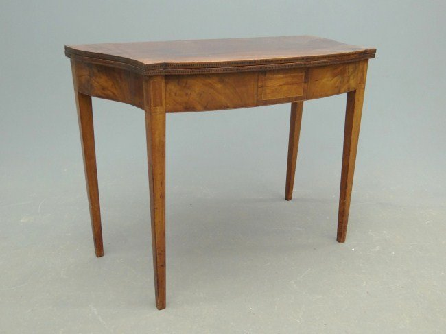 59: 19th c. Federal Card Table