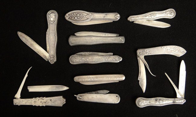 114: Sterling Silver Pocket Knives